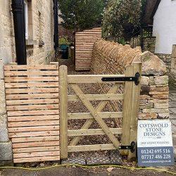 cotswold-stone-design-cheltenham-Dry stone wall & gate
