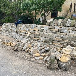 cotswold-stone-design-cheltenham-Dry stone wall grade 2 listed