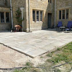 cotswold-stone-design-cheltenham-Finished York stone patio
