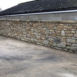 cotswold-stone-design-cheltenham-Mortared boundary public wall