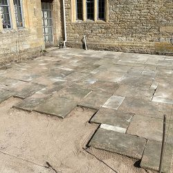 cotswold-stone-design-cheltenham-York stone patio being laid